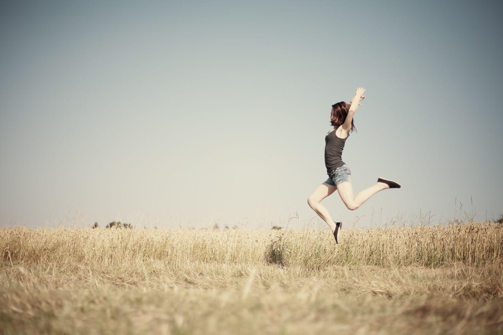 Fly Away Girl In A Field
