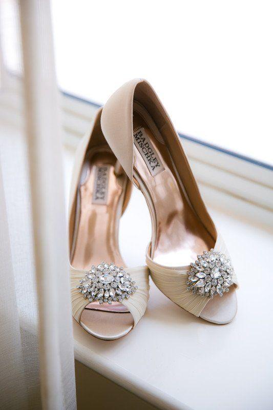 Classic Wedding Shoes For Bride Peep Toe Wedding Heels With
