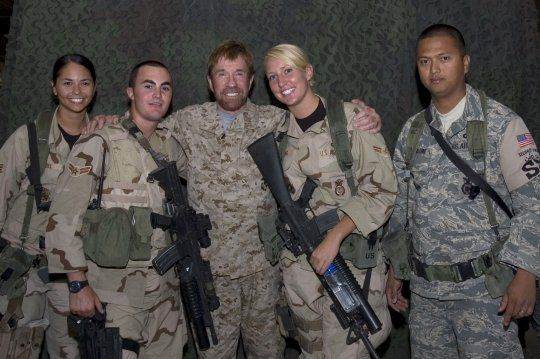 Chuck Norris A Famous Member Of Air Force Security Police Air