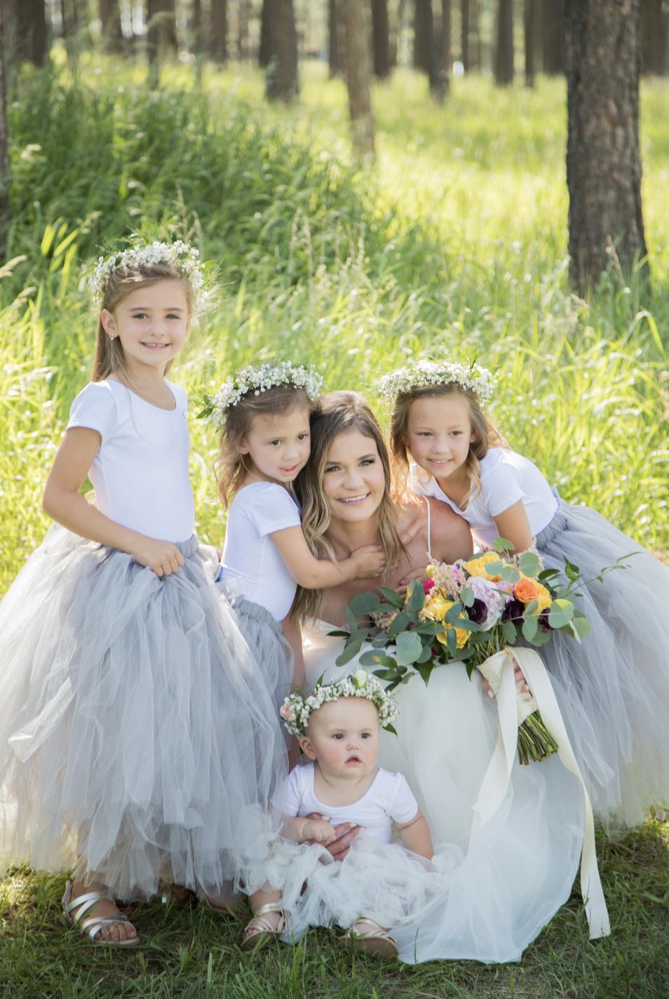 1ee95390e Long Grey Tutu, Flower Girl Dress, Flower Girl Tutu, Silver Grey ...