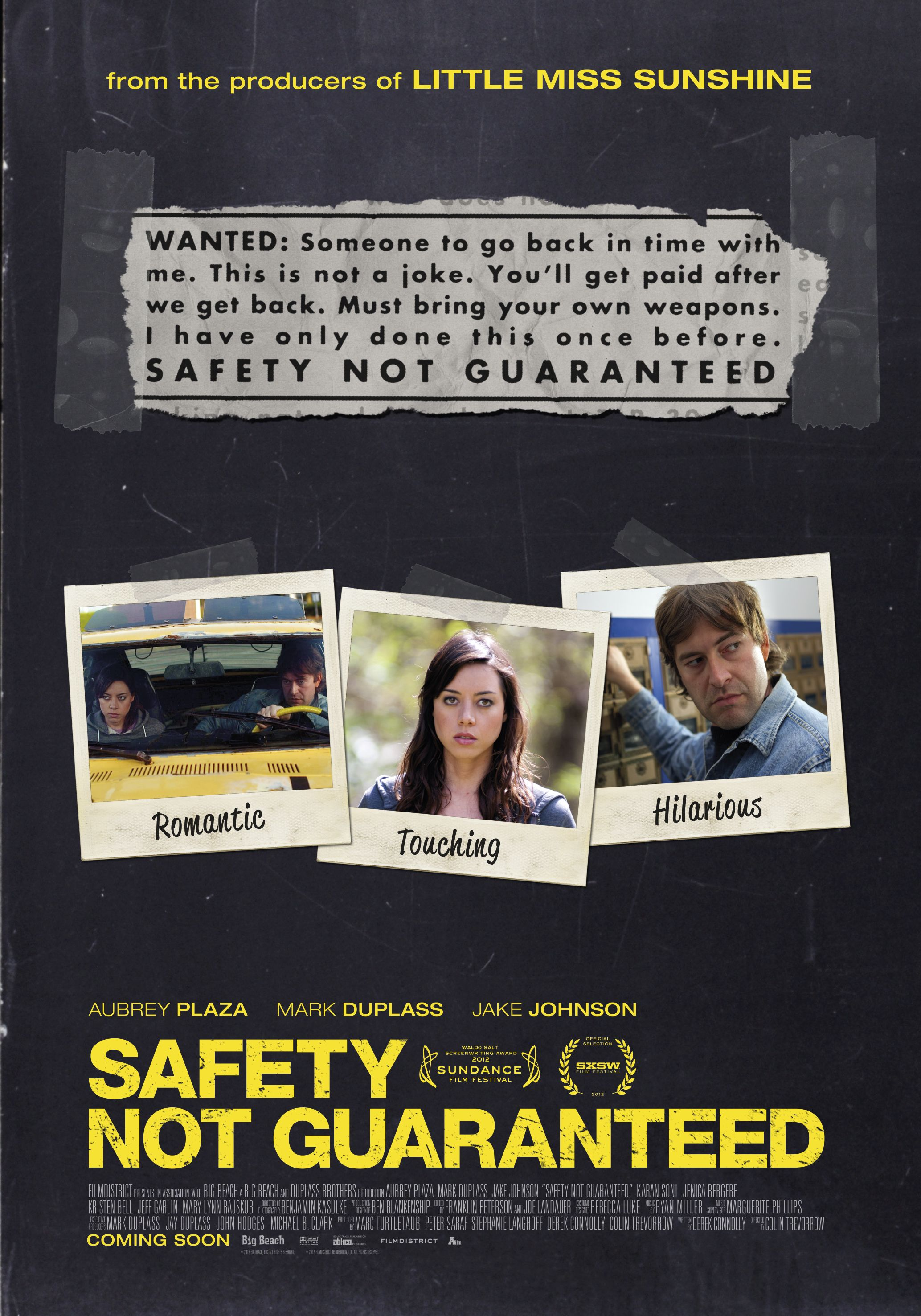 Poster Safety not Guaranteed. 88 in de bioscoop. AFilm