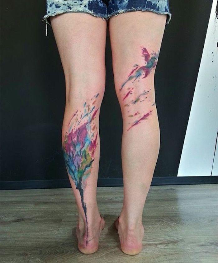 tatouage jambe faites vous en de belles en 50 photos tattoo pinterest jambes tatouages. Black Bedroom Furniture Sets. Home Design Ideas