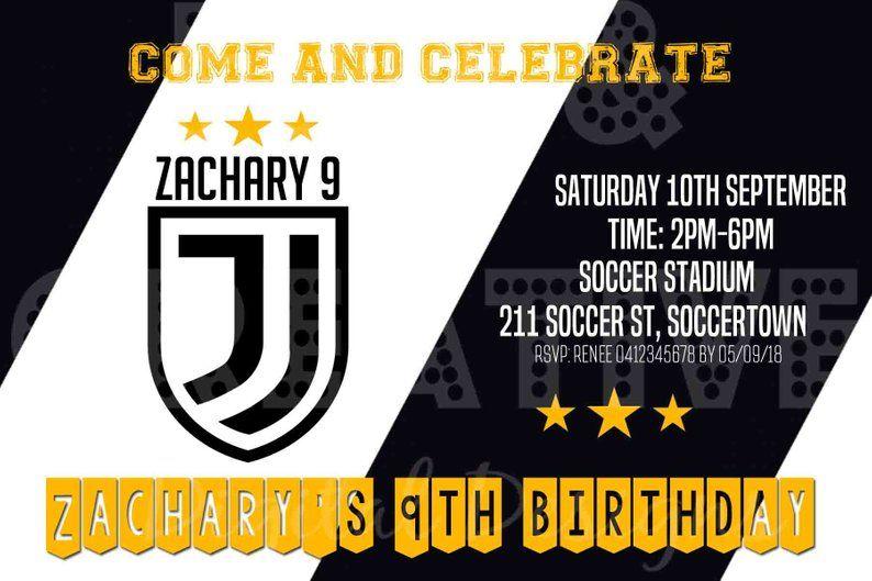 Tarjetas De Invitacion Cumpleaños Juventus Buscar Con