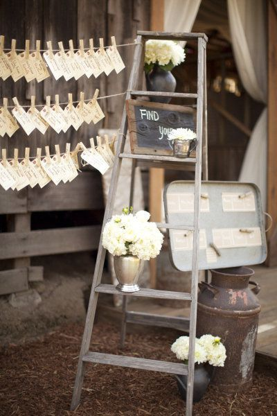 Rustic Wedding Decor Weddingreception Outdoorwedding Rusticwedding Weddingdecor Weddingideas