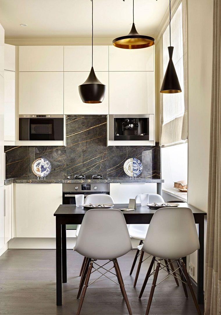 cucina-angolare-mobili-colore-bianco-nero-ante-superfici ...