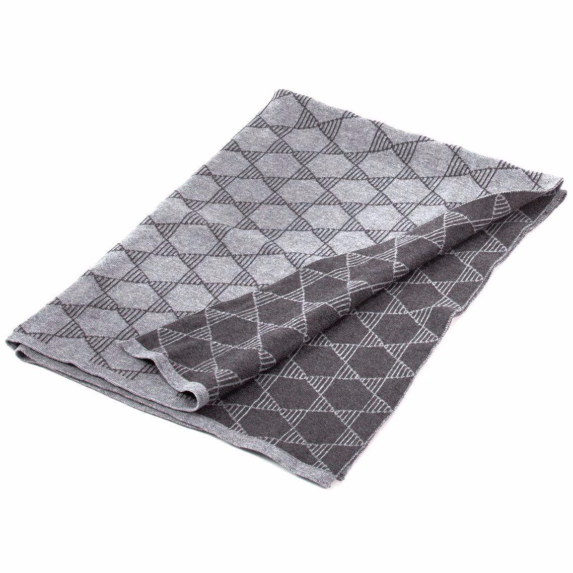 Geometric Knit Baby Blanket