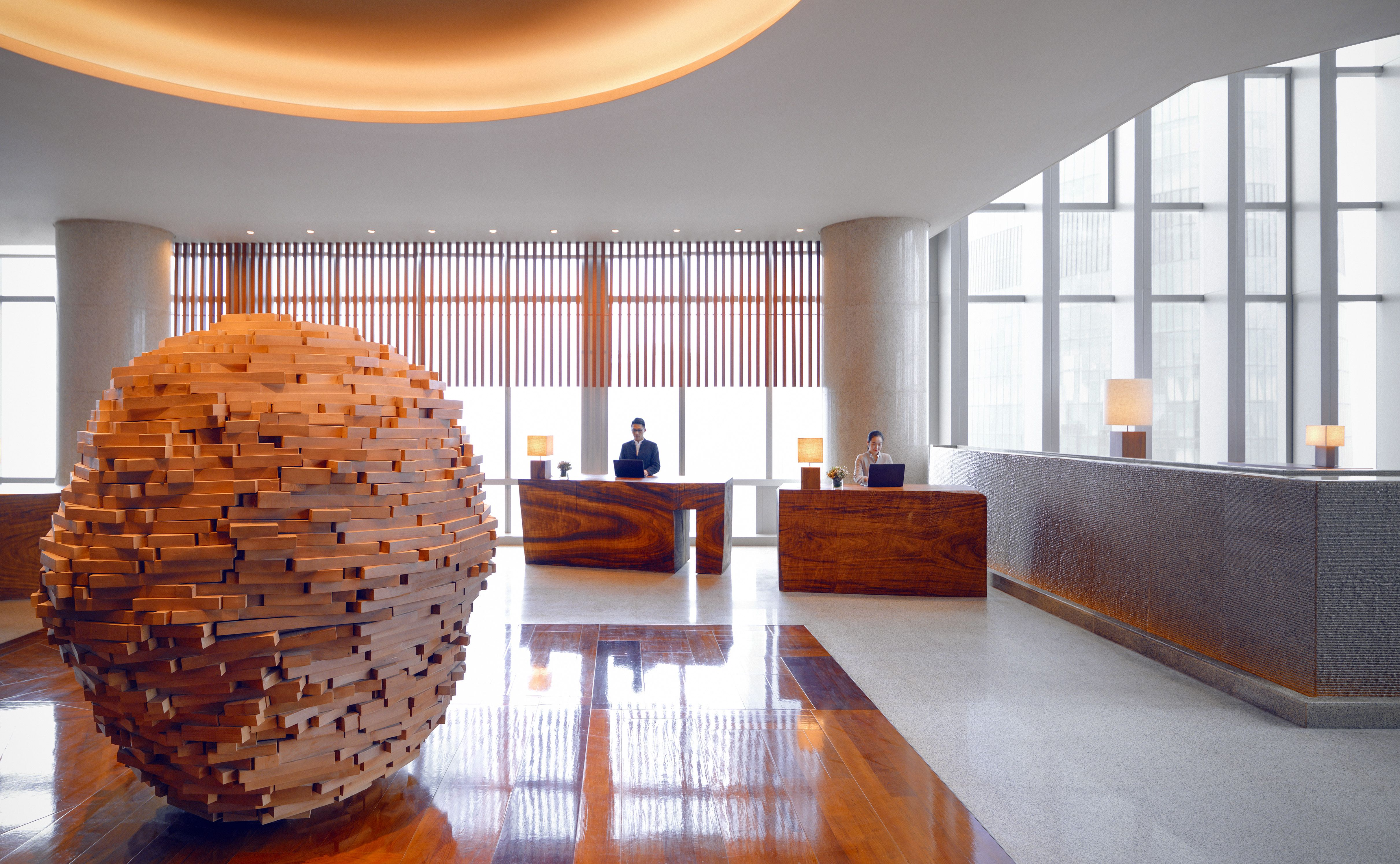 Park Hyatt Guangzhou China Sky Lobby Hotel Lounge Luxury Hotel