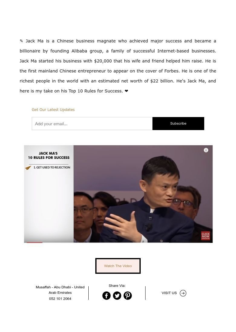 ✎ Jack Ma is a Chinese business magnate who achieved major