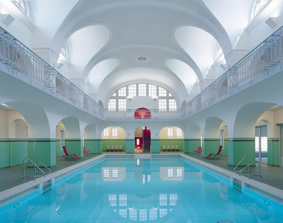 Art Nouveau Historicist Swimming Hall Stadtbad In Gotha Germany