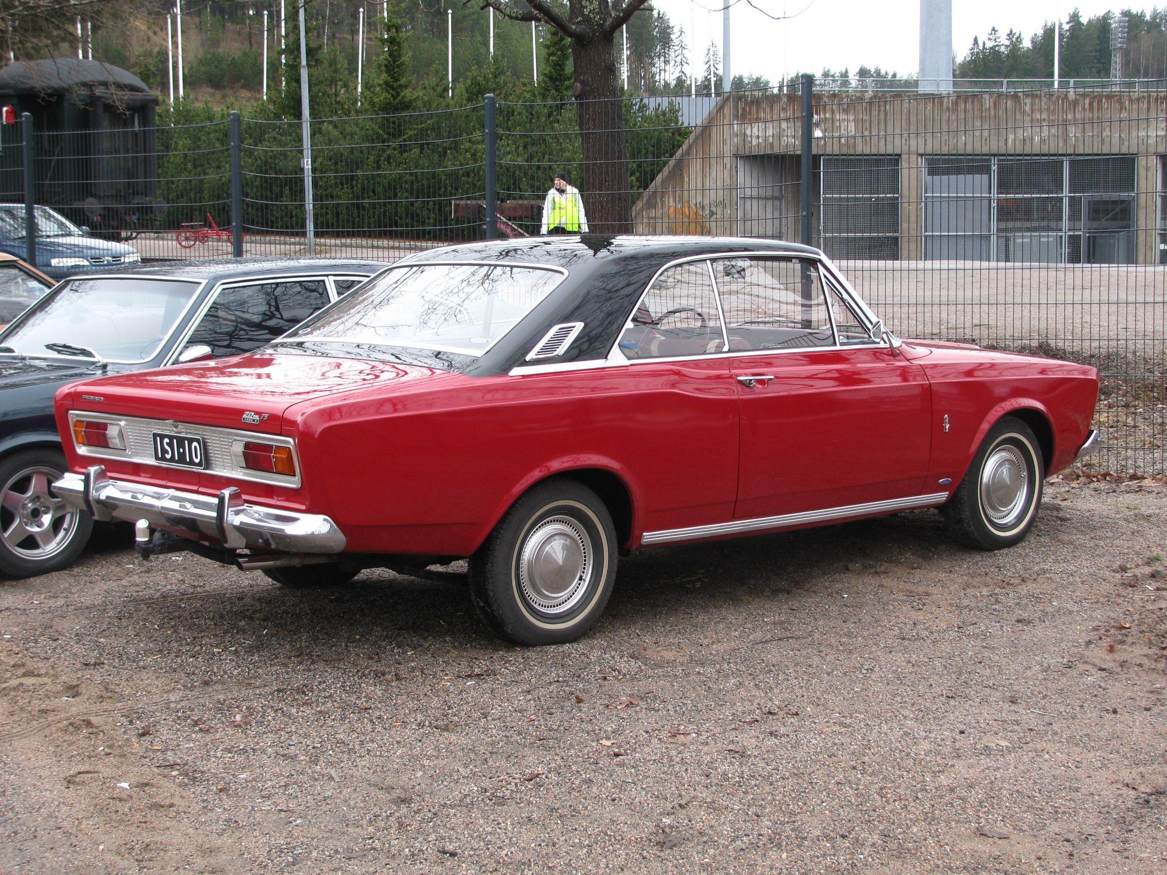 1967 Ford Taunus 20 Mts P7 Rear Side Oldtimer Autos Oldtimer Ford