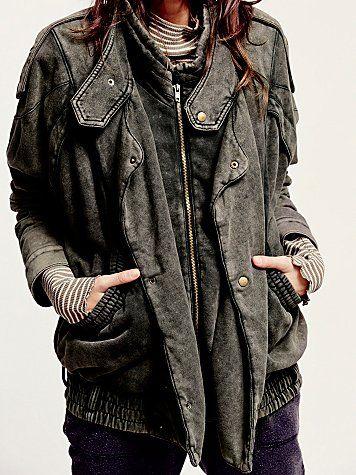 we the free oversized fleece moto jacket