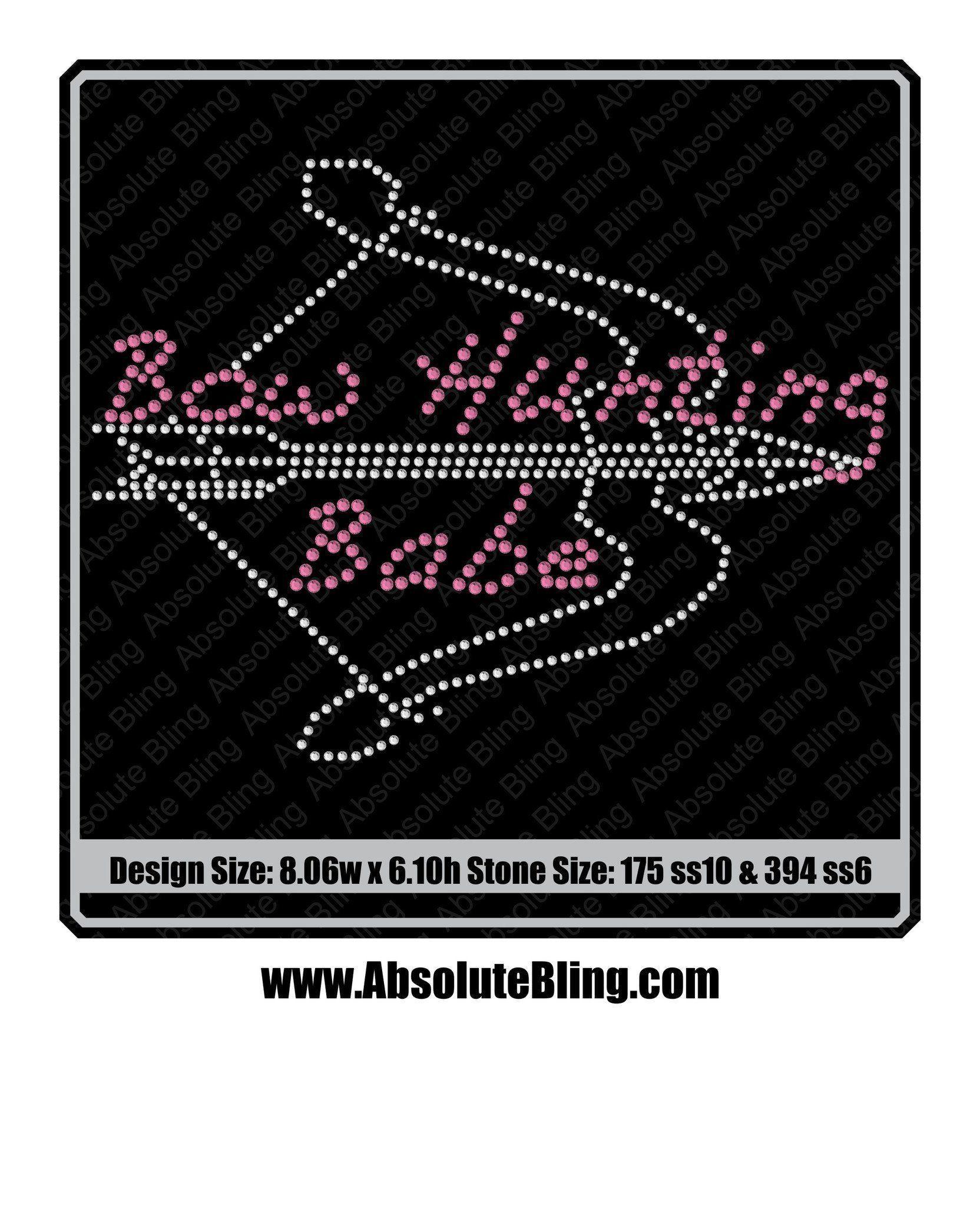 Bow Hunting Babe Rhinestone Transfer AB BowHunting
