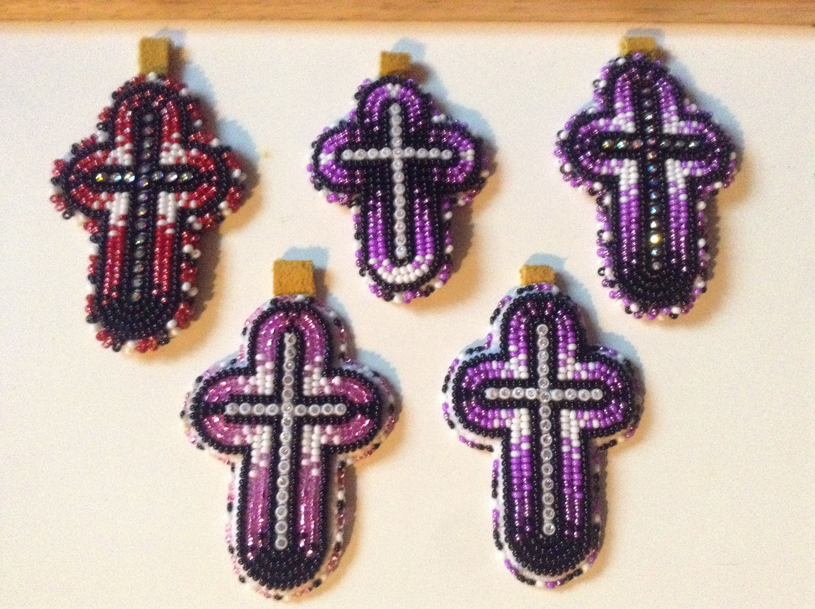 My cross keychains .. ALL SOLD ;) Beaded keychains