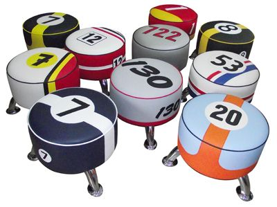 Iconic Motoring Stools Designed By Vintage 60 Barrel
