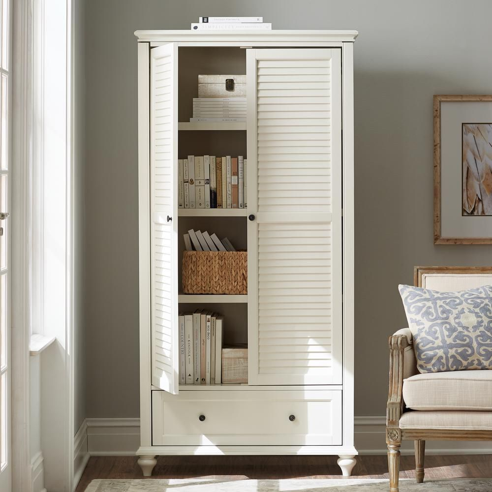 Home decorators collection 72 in polar white wood 4shelf