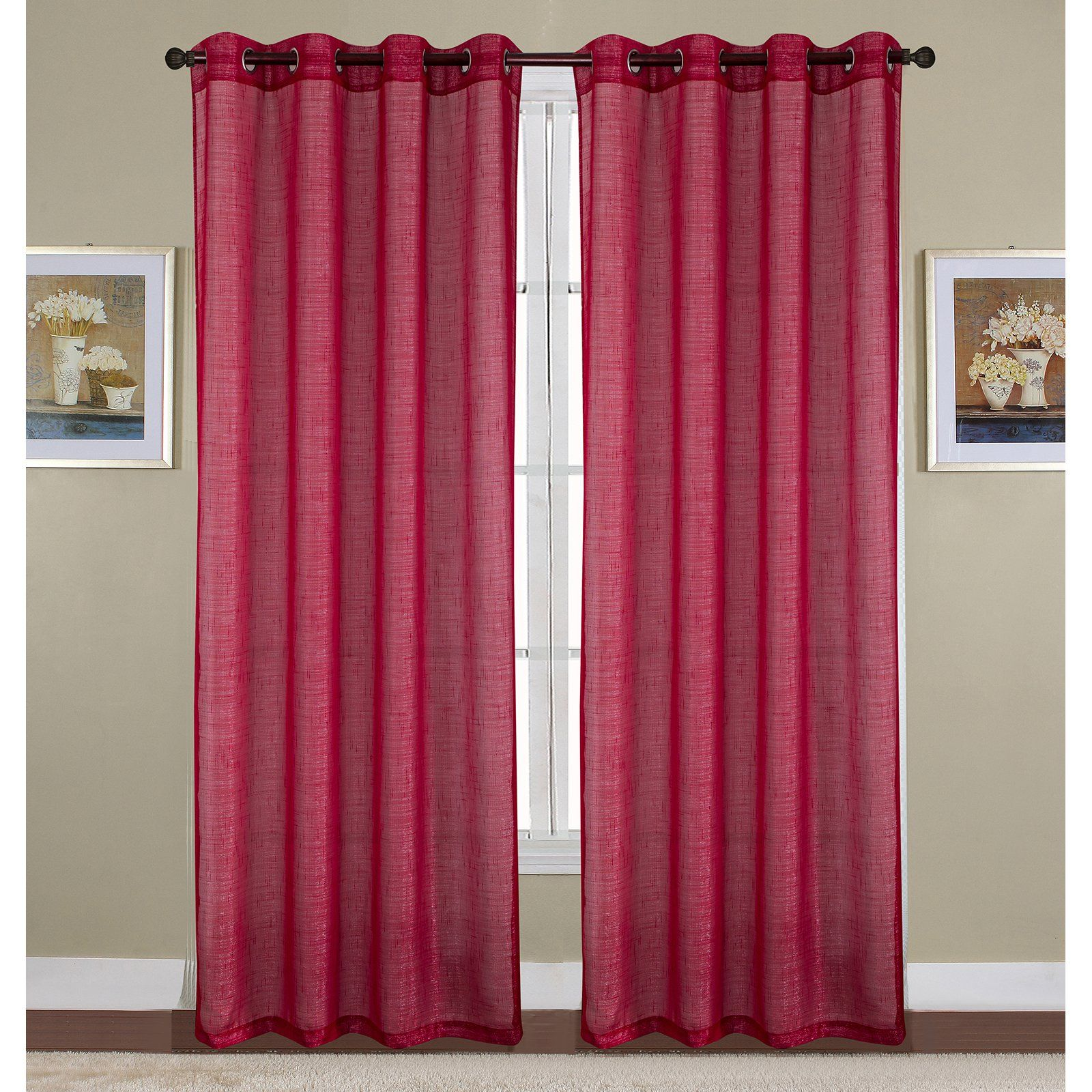 Rt Designers Collection Sparkle Woven Lurex Grommet Curtain Panel