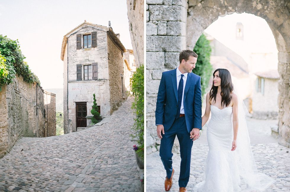 bride & groom's portrait // Wedding photographer Provence, France   Village Lacoste, Luberon Valley