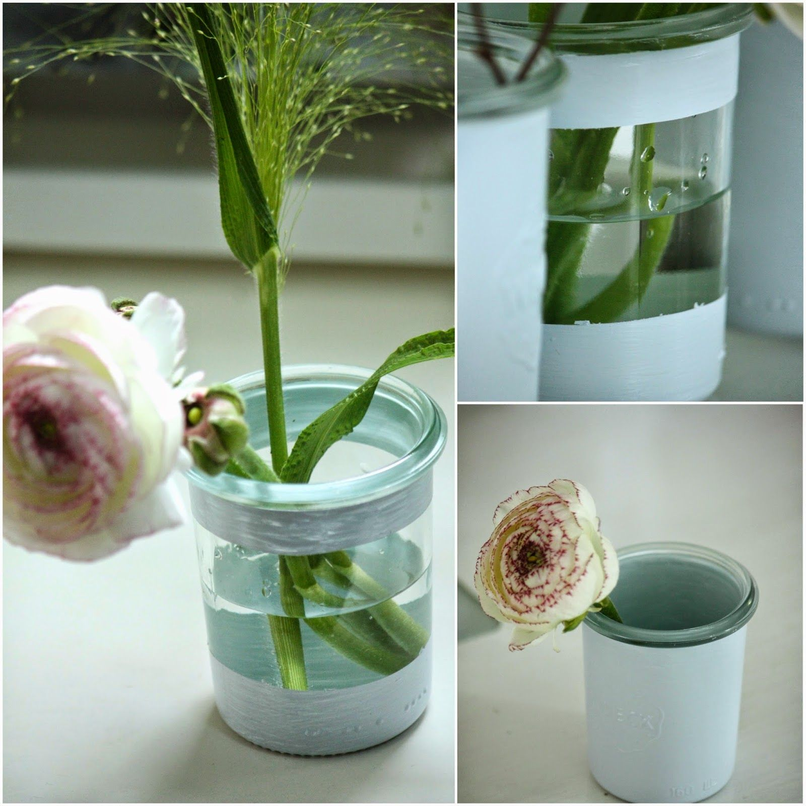 un nouveau regard diy customiser vos pots en verre. Black Bedroom Furniture Sets. Home Design Ideas
