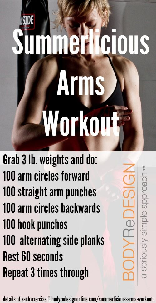 Summerlicious Arms Workout From Bodyredesignonline Good Arm