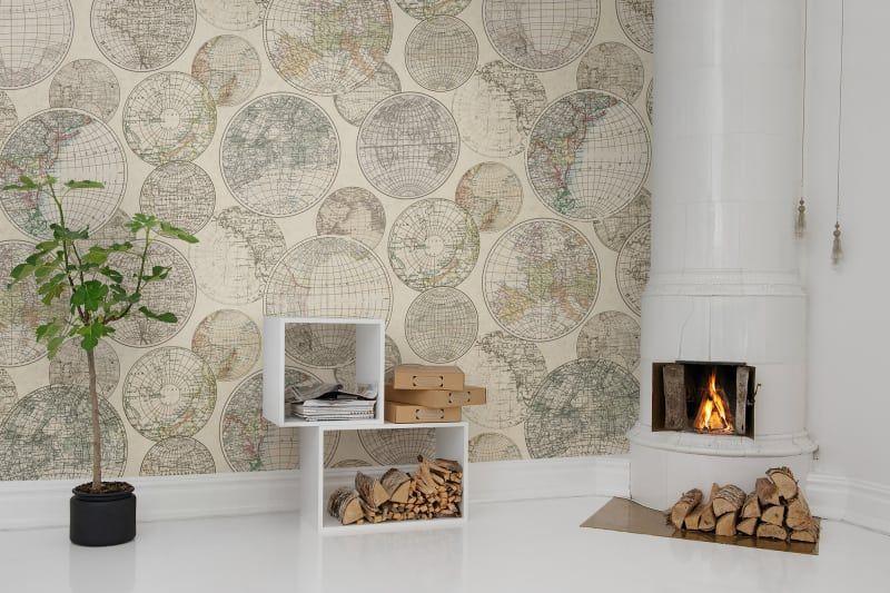 Globes Gathering   House - Wallpaper & Walls   Wall ...