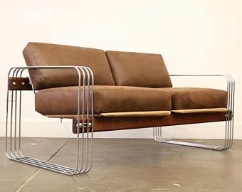 Loveseat and Lounge Chair by Heinz Meier for Landes