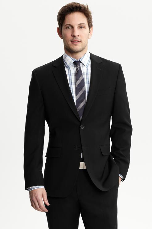 A semiformal daytime wedding calls for a black or dark gray suit ...