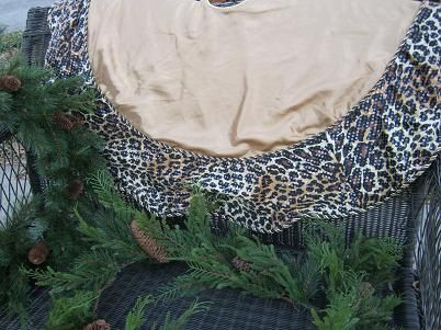 Classy Leopard Print Christmas Tree Skirt SOLD