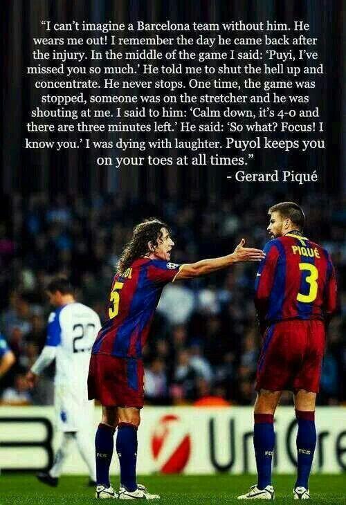 1b4c98f827eb59 Carles Puyol & Gerard Pique | FC Barcelona | Barcelona team, Soccer ...