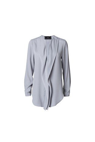 Bluse - TOSHIKO pale grey By Malene Birger
