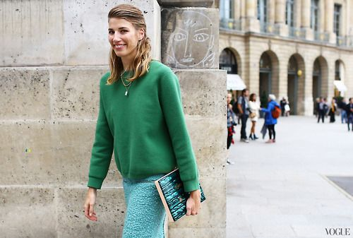 Veronika Heilbrunner Acne Studios top, skirt, and bag