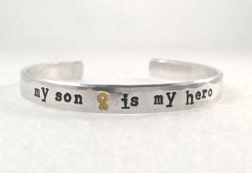 63c90d1cd1c My son is my hero. Yellow ribbon. Military quote. deployment bracelet. usmc army  navy usaf marine corps. $20.00, via Etsy.
