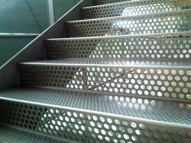 Perforated Metal Stairs Google Search Estilo