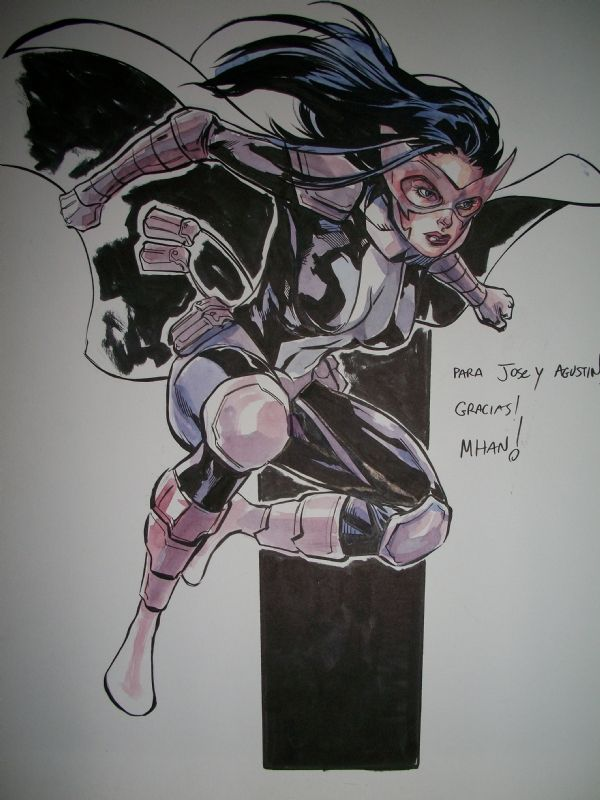 Pop Mhan-The Huntress Comic Art