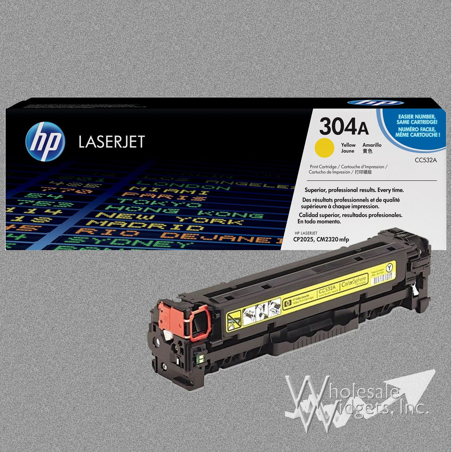 Hp 304a Yellow Toner For Use In Color Laserjet Cp4005 Cyan Cartridge Cb401a Cm2320 Mfp