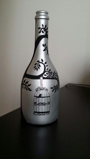 Botella decorada עיטורי בקבוקים Pinterest Botellas decoradas
