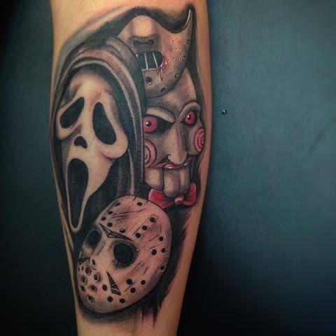 Steven Chaudesaigues Horror Tattoo Horror Movie Tattoos Movie Tattoos