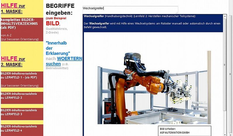 Examples In German Language Glossary Of Robotics Terms
