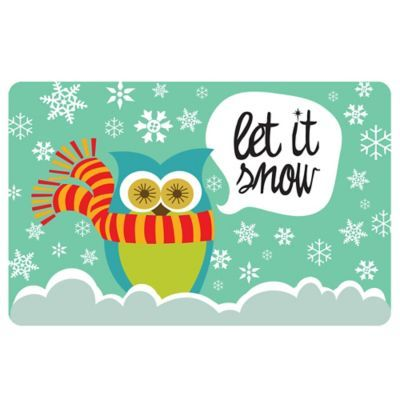 The Softer Side By Weather Guard Let It Snow Owls Kitchen Mat Www