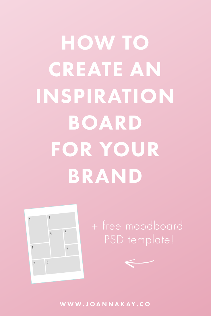 how to create an inspiration board for your brand free mood board