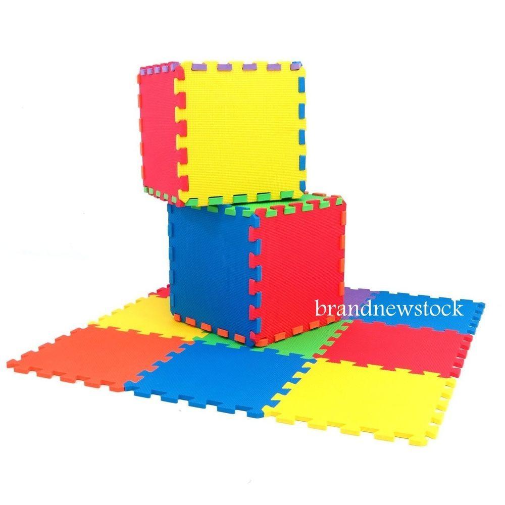 Kids Eva Foam Children Soft Play /& Mats Safe Interlocking Solid Tiles UK
