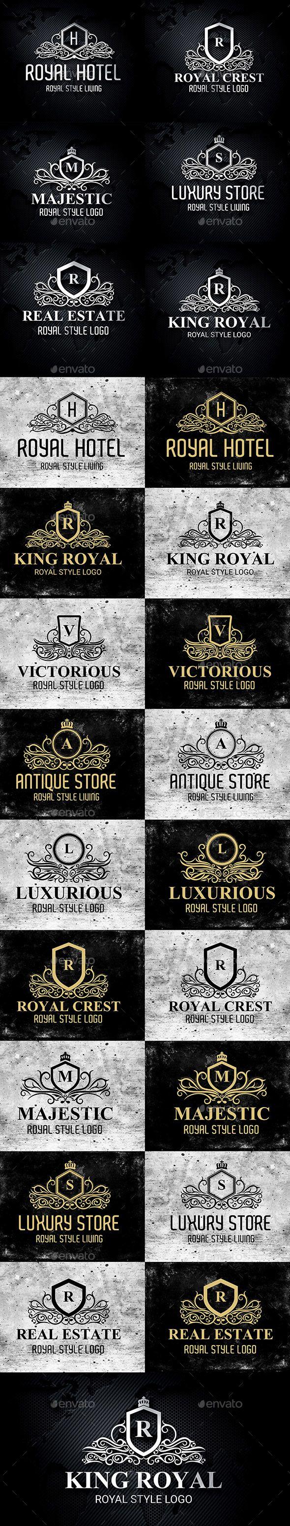 royal luxurious heraldic crest logos template vector eps ai