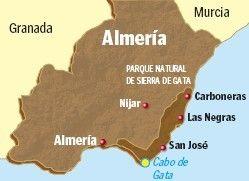 Cabo De Gata Mapa.La Senda Costera Del Cabo De Gata Almeria Cabo De Gata