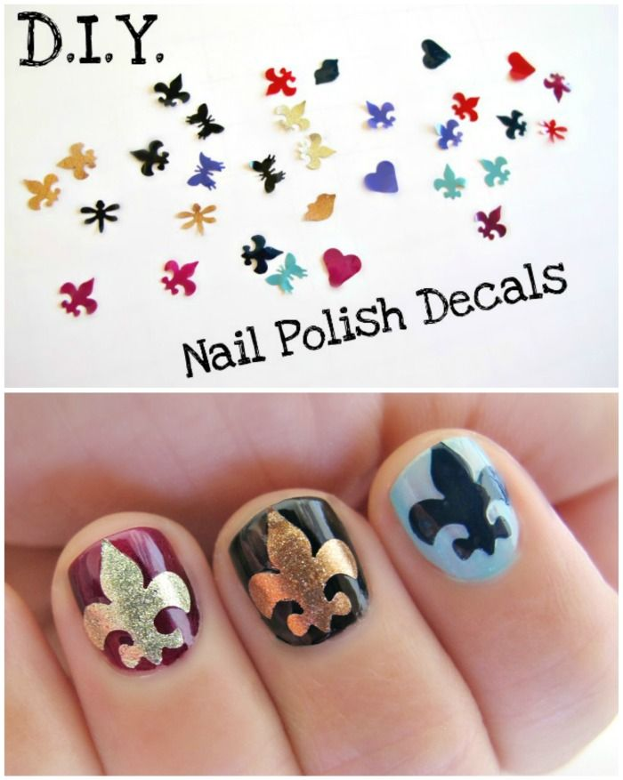 DIY Nail Decals - so easy! You probably already have everything you ...