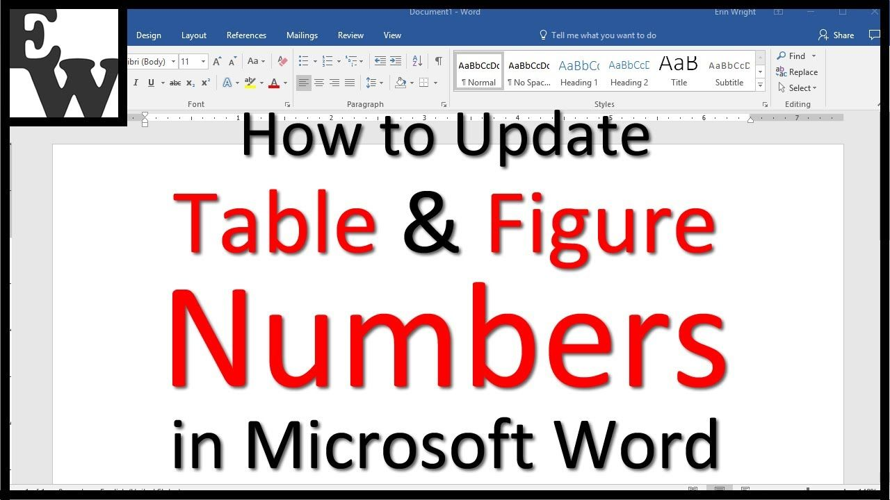 How To Update Table And Figure Numbers In Microsoft Word Words Microsoft Word Microsoft