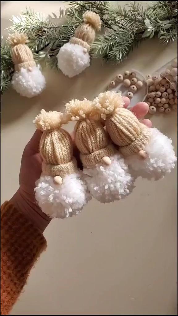 Lovable DIY Yarn Gnomes
