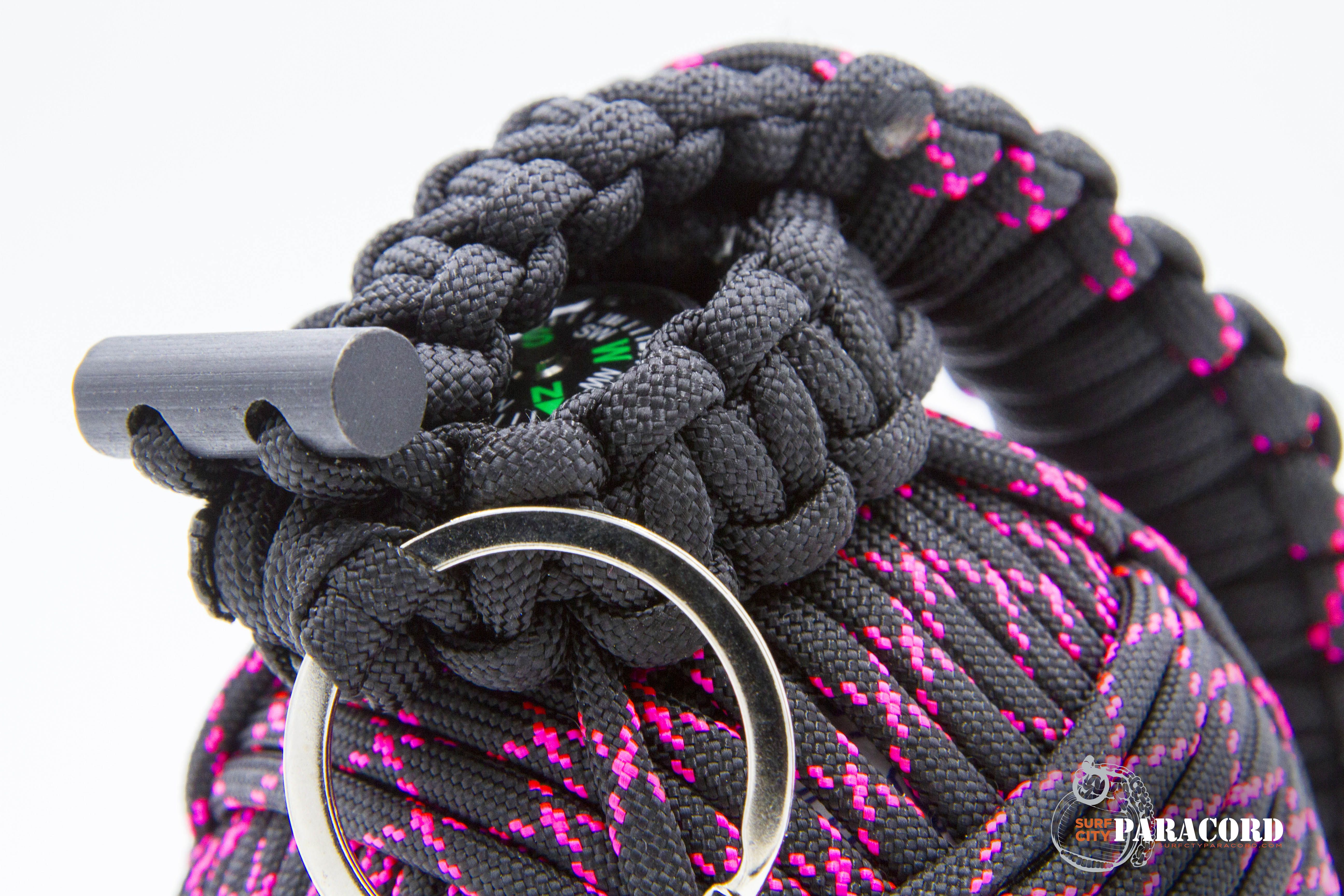 550 Paracord Survival Bracelet King Cobra Black//Pink Camping Tactical