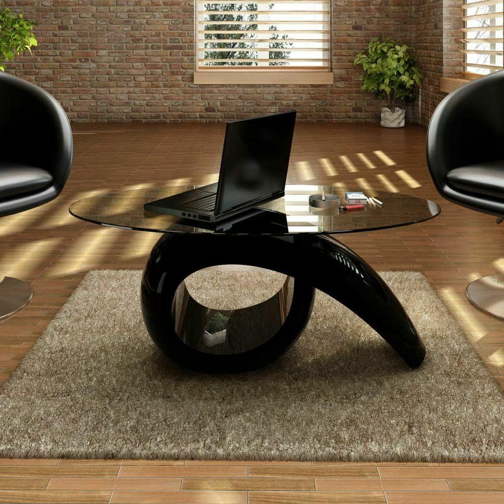 Table basse vidaXL avec tablette ovale en table de salon en ...