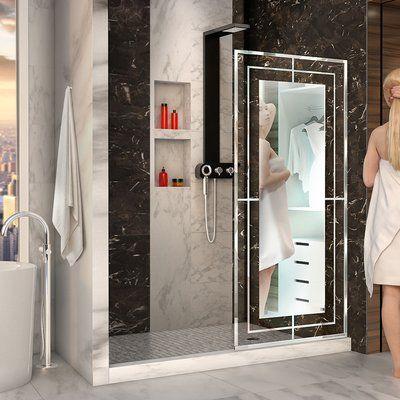 Dreamline Linea Mira 34 X 72 Single Sliding Frameless Shower
