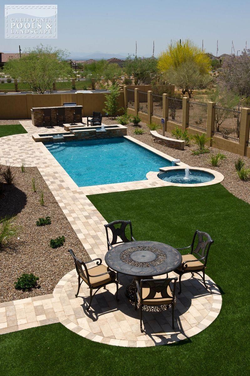 Landscaping Modern Pool 120044 1 Backyard Pool Landscaping Large Backyard Landscaping Desert Backyard