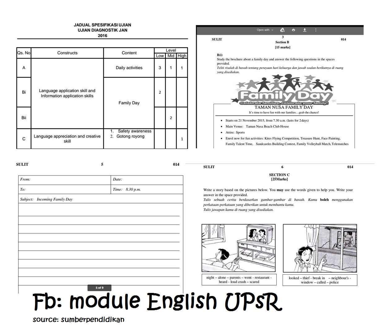 Upsr English Writting Module